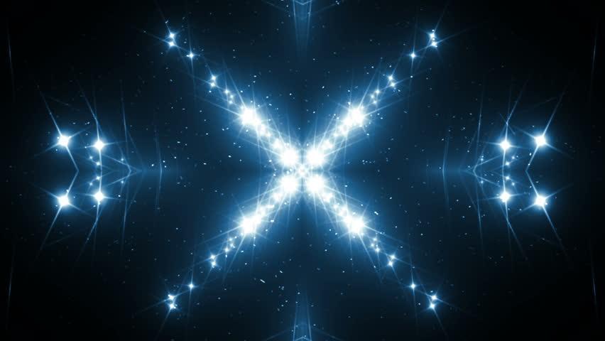 VJ Fractal blue kaleidoscopic background.Background blue motion with fractal design on black background. Disco spectrum lights concert spot bulb. Light Tunnel. Seamless loop. | Shutterstock HD Video #23151127
