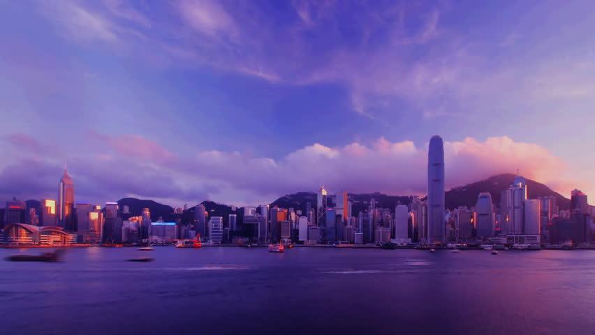 Time-lapse - Hong Kong Harbour sunset | Shutterstock HD Video #2315321