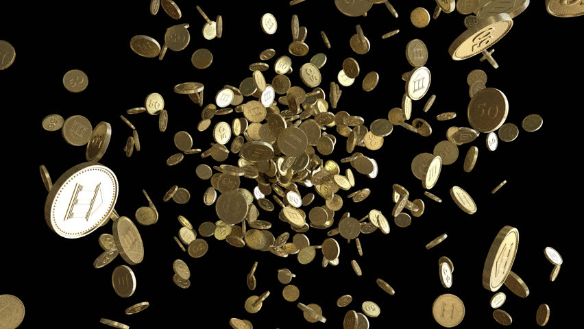 gold coins black background - photo #9