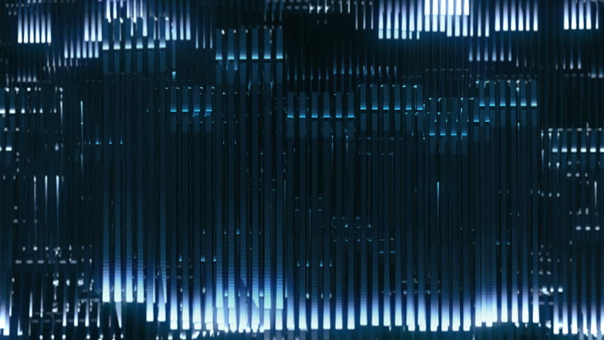 A complex wall of lights that moves like a electrical impulse. Technology and science fiction. Electronic music, video mapping and facade projections, you tube and background for motion graphics. | Shutterstock HD Video #23377243