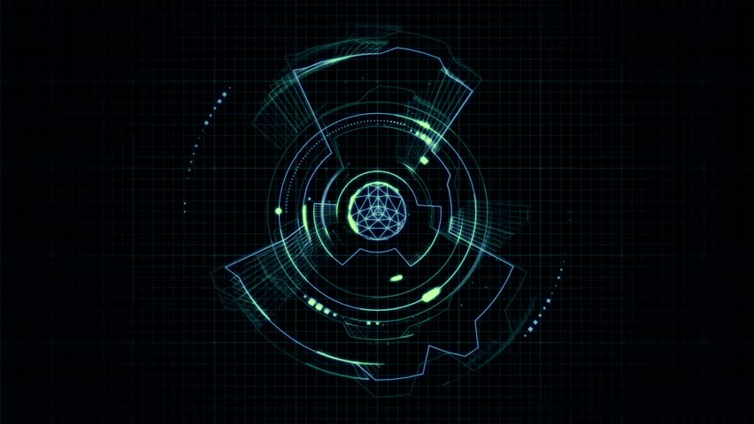 Futuristic abstract Hud - Seamless Loop | Shutterstock HD Video #23497012