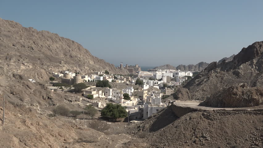 4K) Beautiful View From Above Of The City In Muscat (Oman) Stock ...
