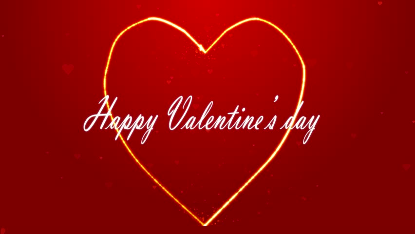 Happy Valentines Day Animation Card With Pulsing Heart On – Valentines Day Animated Cards