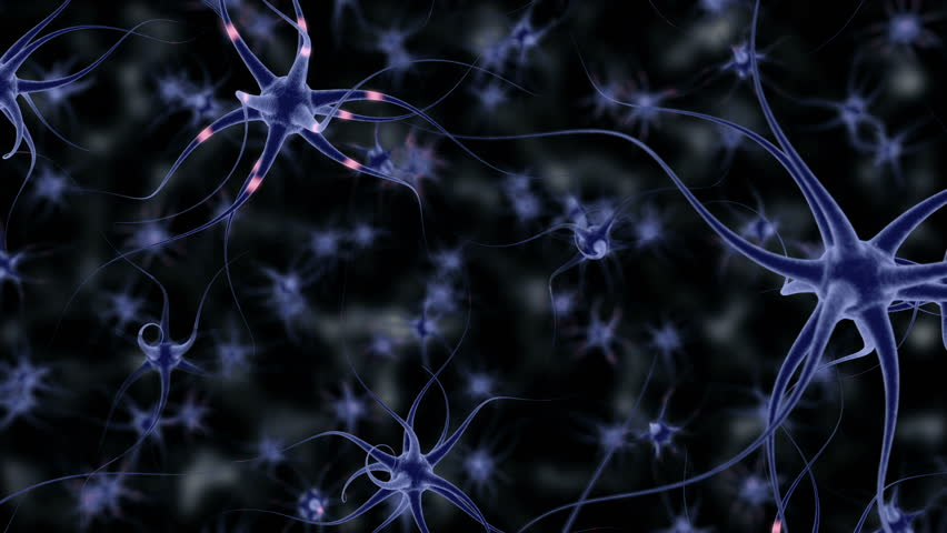 Neuron Cells, with sending informations, simulation (3d rendering) | Shutterstock HD Video #23752510