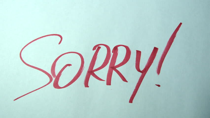 Header of sorry