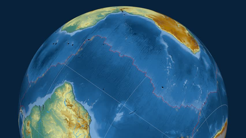 Africa tectonics featured. Relief. Plate extruded and animated against the globe. Tectonic plates borders (newest division), earthquakes by strength & volcanic cones | Shutterstock HD Video #23961523