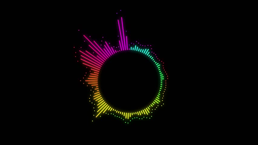 abstract motion background dancing lines suitable as use in a music video audio