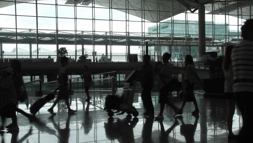 Airport passenger - Hong Kong International Airport. | Shutterstock HD Video #2405375