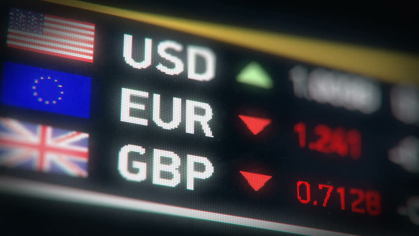 British pound, Euro, US dollar comparison, currencies falling, financial crisis. European Union and Great Britain currencies plummet down after Brexit