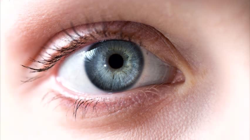 Galaxy inside human eye. Zoom in. | Shutterstock HD Video #24193396