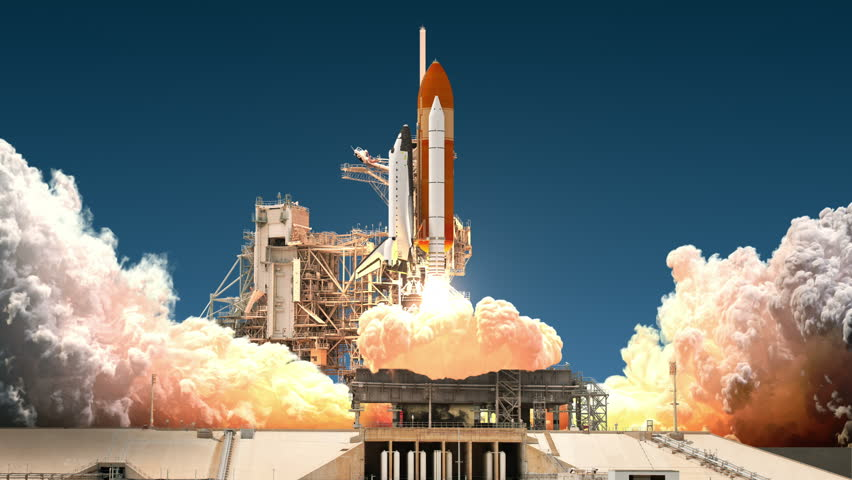 Space Shuttle Launch. Realistic 3D Animation. 4K. Ultra High Definition. 3840x2160. | Shutterstock Video #24197836