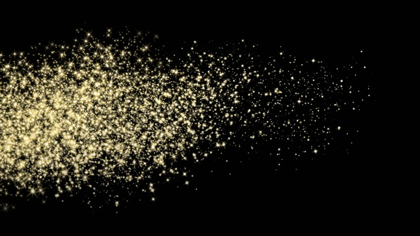 HD, alpha channel particles useful for New Year and other holiday events... This version is without bottoms cut out and with a large amount of stars and particles.