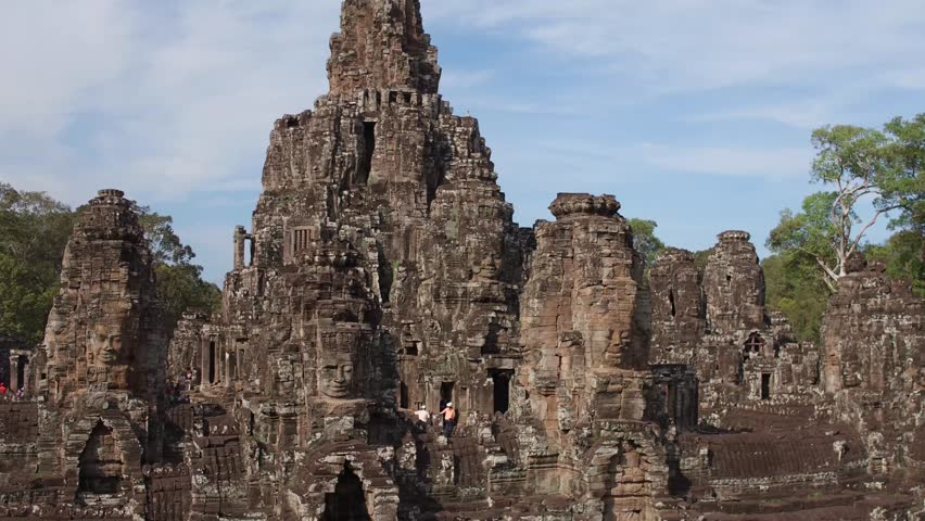 fly over bayon temple 2 | Shutterstock Video #24406709