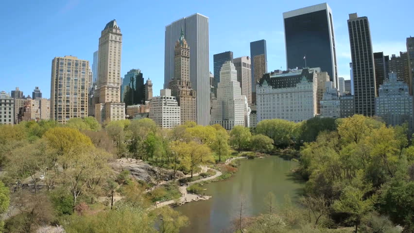 Aerial view of Manhattan with Central Park in New York   Shutterstock HD Video #24600182