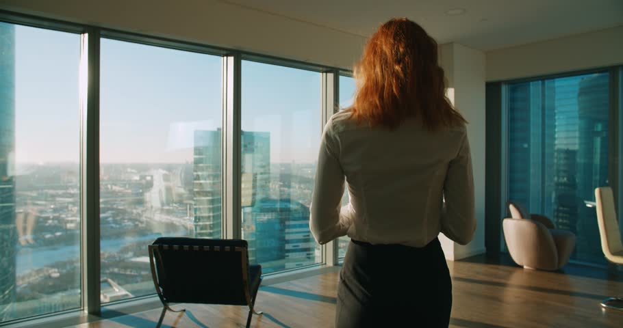Young business woman is part of a modern office...