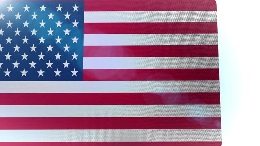 waving US 48 star flag america usa video animation
