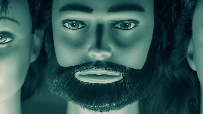 Plastic heads, communication concept | Shutterstock HD Video #24755516