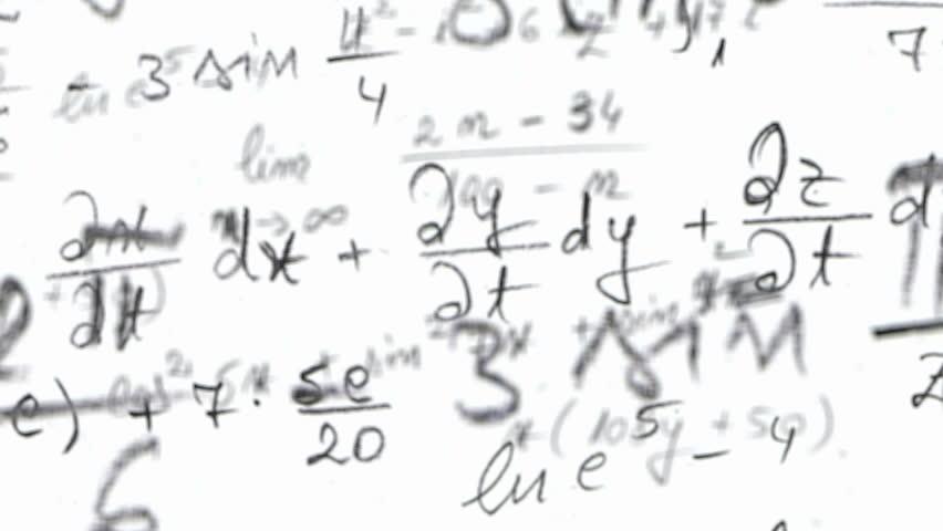 Math Physics Formulas Black And White. Computer Generated