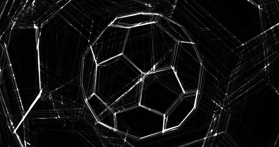 Animated background. Soccer Ball. Football background. Abstract looped video.