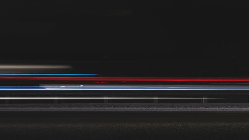 Super fast car lights in minimal style. Motion...
