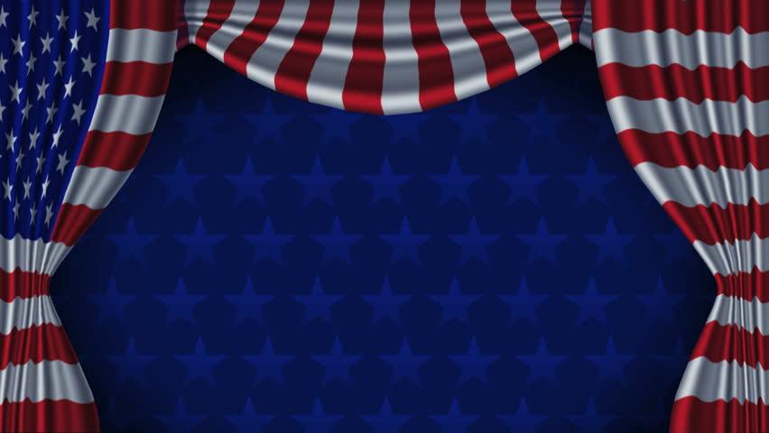 Curtains Ideas curtains background : USA Flag Curtain Background Animation Loop With Alpha. Animation ...