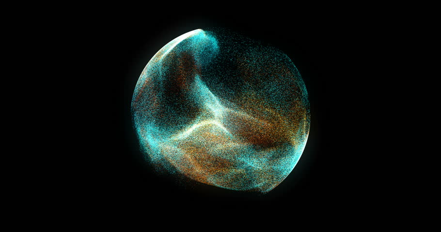 Abstract 4K Motion Background Explosion With Particles And Sphere. Atom Science Technology,energy Circle Sphere Ball, power Wire Lines Curve. Abstract Animated Motion Graphic