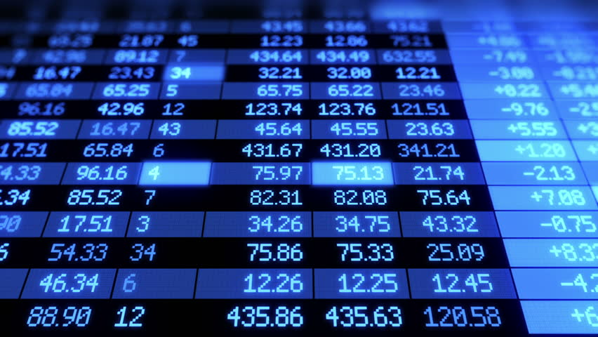Stock Market board moving. Blue color. Looped animation. HD 1080.   Shutterstock HD Video #2540876
