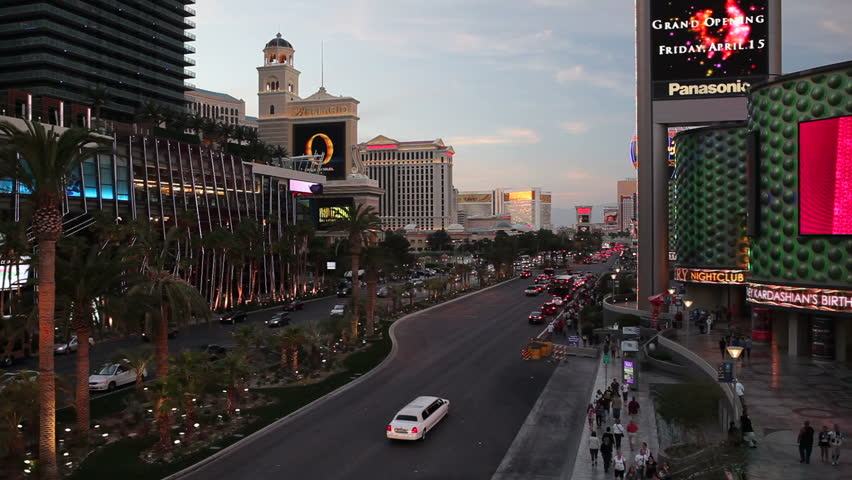 LAS VEGAS - CIRCA MAY 2011: Las Vegas, The Strip at dusk | Shutterstock HD Video #2569604