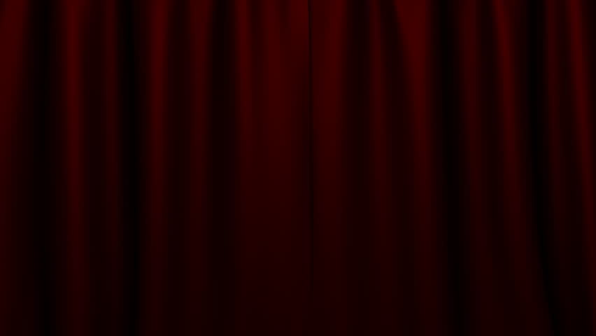 Dark Red Curtains On Stage With Green Screen For Your Art Stock ...