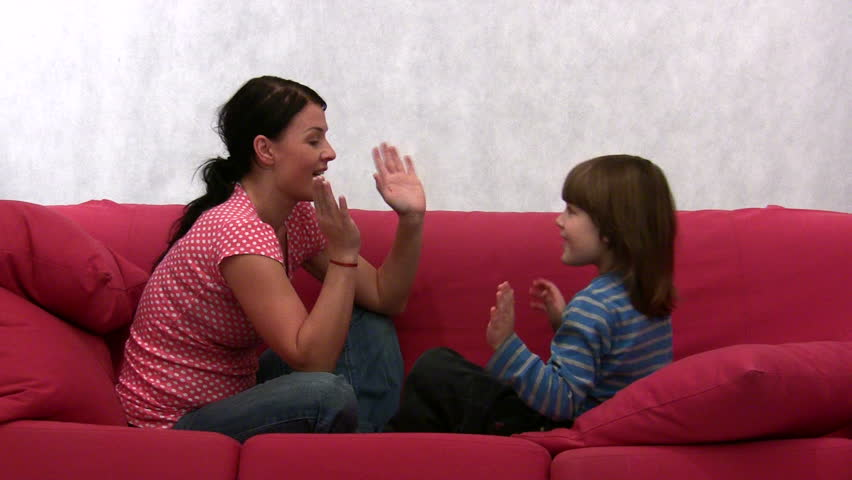 Young Mother And Her Son On The Sofa Stock Footage Video 281086 - Shutterstock-7906