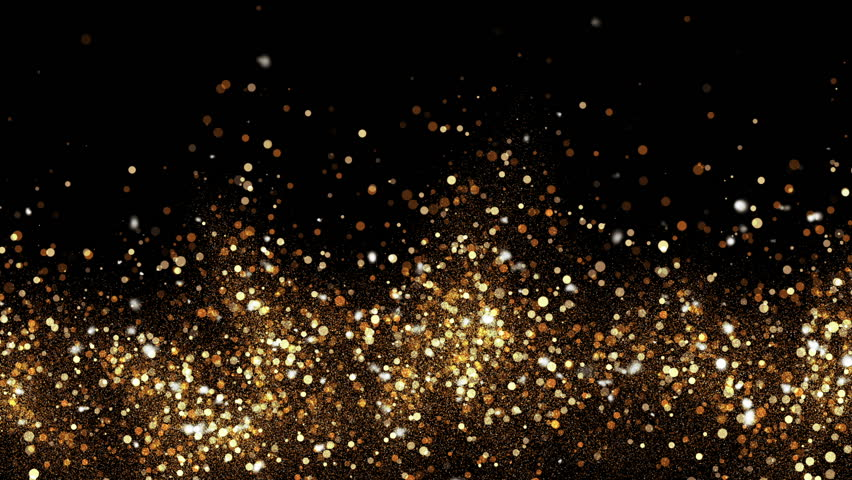 Abstract bokeh golden ember particles. HD animation with abstract sparkles. Motion background. | Shutterstock HD Video #25897697