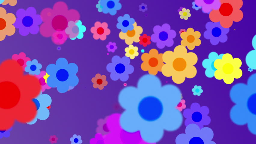 Retro Flowers Background 3