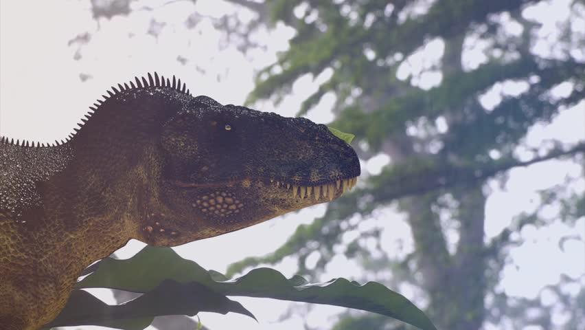 close up head of Tyrannosaurus Rex