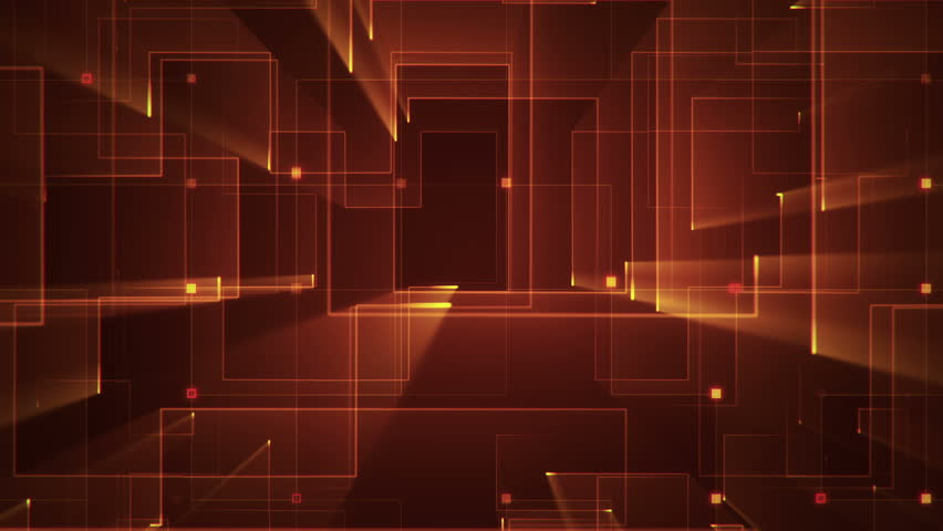 Abstract technologic background with stripes and particles. Animation of circuit electric signal with light shine. Animation of seamless loop. | Shutterstock HD Video #26044805