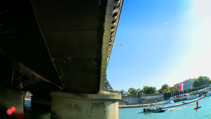 Views of Paris,France from a sightseeing cruise on the River Seine   Shutterstock HD Video #261304