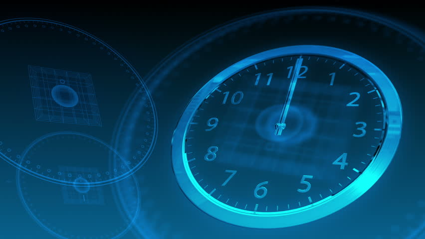 Time Flies - Hi-tech Clock 59 (HD) - Hi-tech background with time-lapse clock. Loop-able. | Shutterstock HD Video #2627459