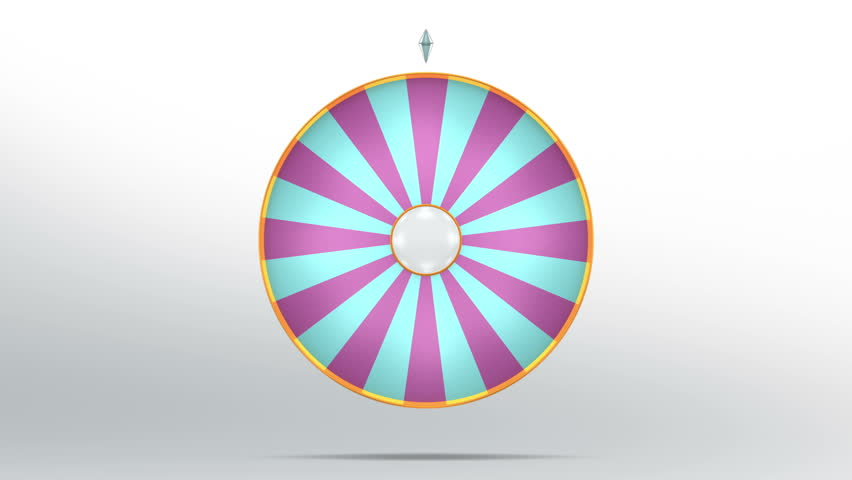 3D Illustration of  lucky spin represent the wheel of fortune concept. Three dimensional wheel graphic for use in game animation. include alpha mask. | Shutterstock HD Video #26330954
