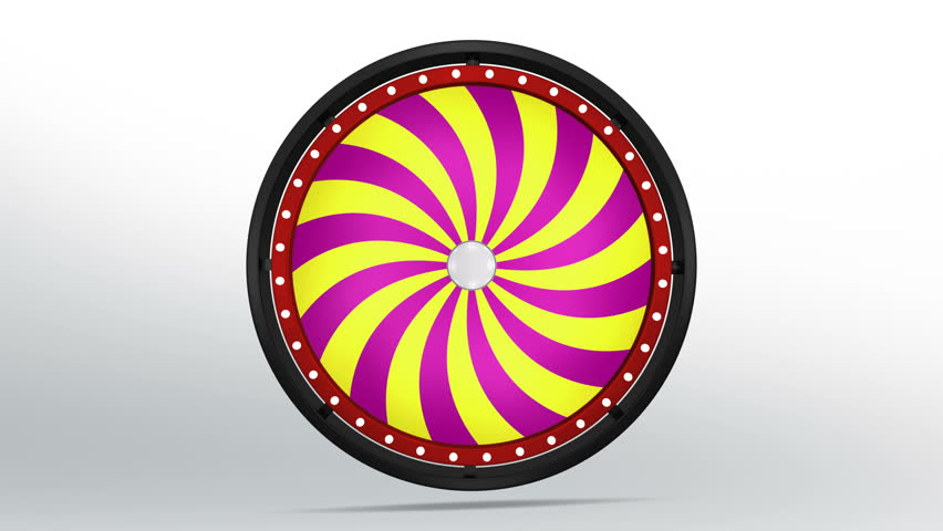 3D Illustration of  lucky spin represent the wheel of fortune concept. Three dimensional wheel graphic for use in game animation. include alpha mask. | Shutterstock HD Video #26352830