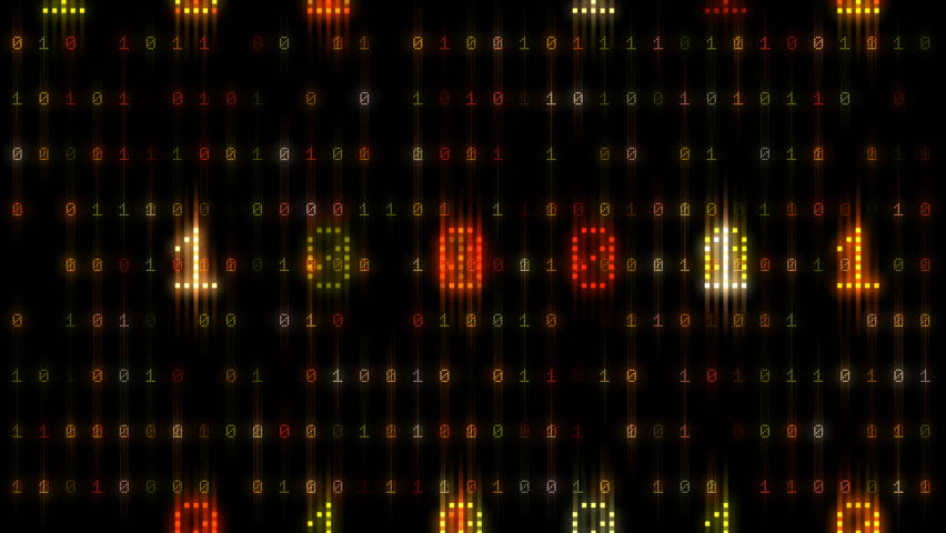 Digital world data space number text. | Shutterstock HD Video #26609234