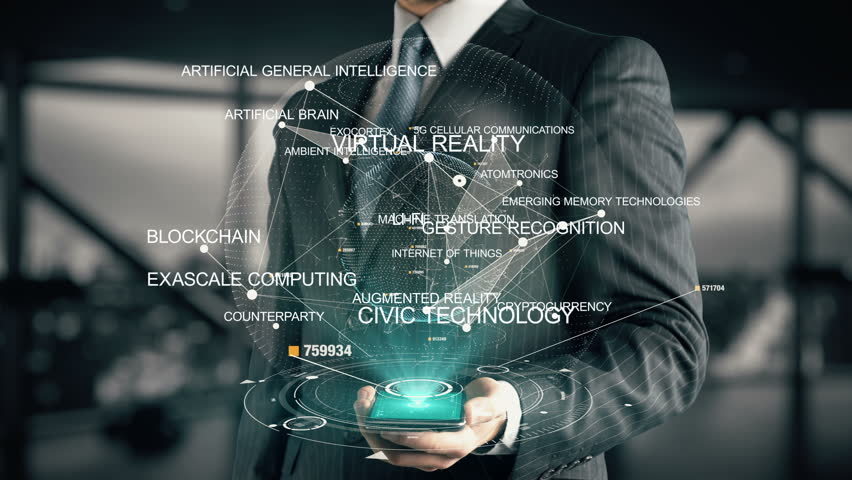 Businessman with Blockchain hologram concept | Shutterstock HD Video #26644822