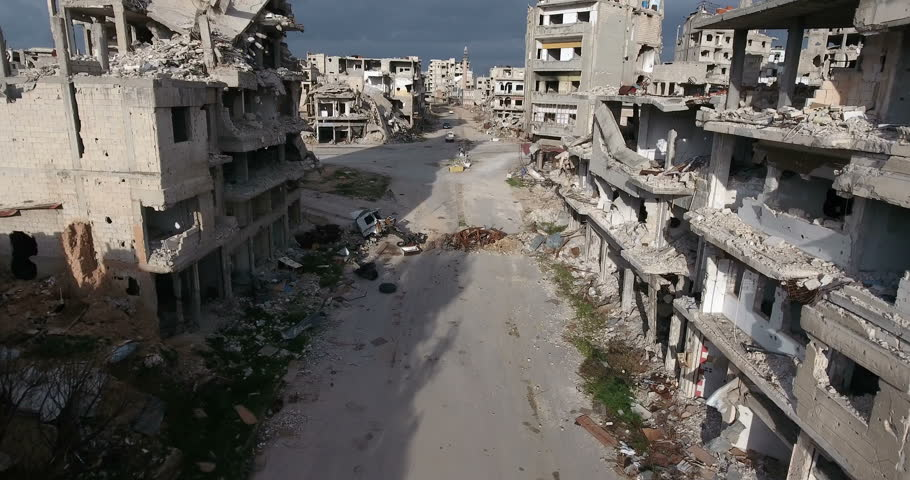 HOMS CITY Aerial 4K syria  #26857726