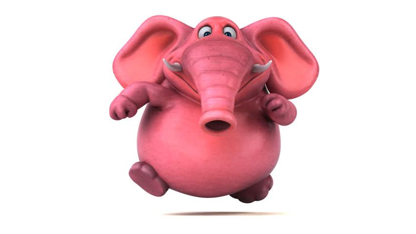 Fun pink elephant - 3D Animation
