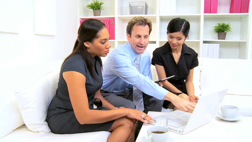 Caucasian Advertising Executive Winning Contract Successful ...