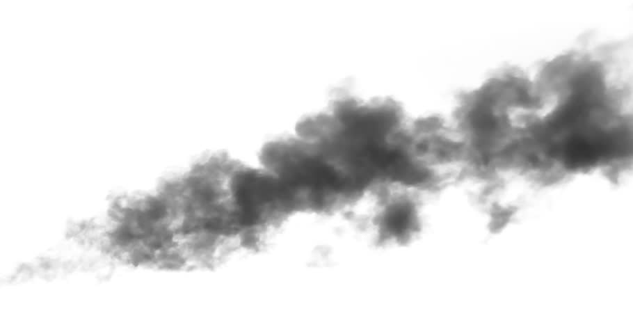 Black Smoke Above a Burning Object. Black smoke rises from a large burning object. Ideal for simulating burned equipment and buildings in the middle distance from the camera