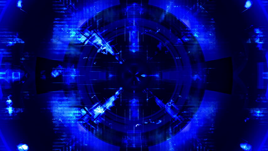 Science fiction blue abstract VJ looping CG animated backdrop