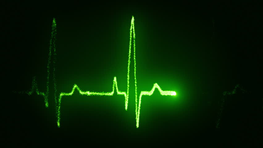 Heart beat pulse in green