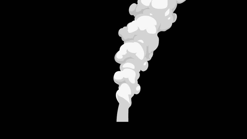 Billowing Smoke White 2D Animation Loop Alpha Channel