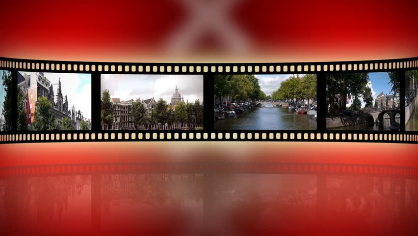 Loop-able reel clip with touristic clips of  Amsterdam