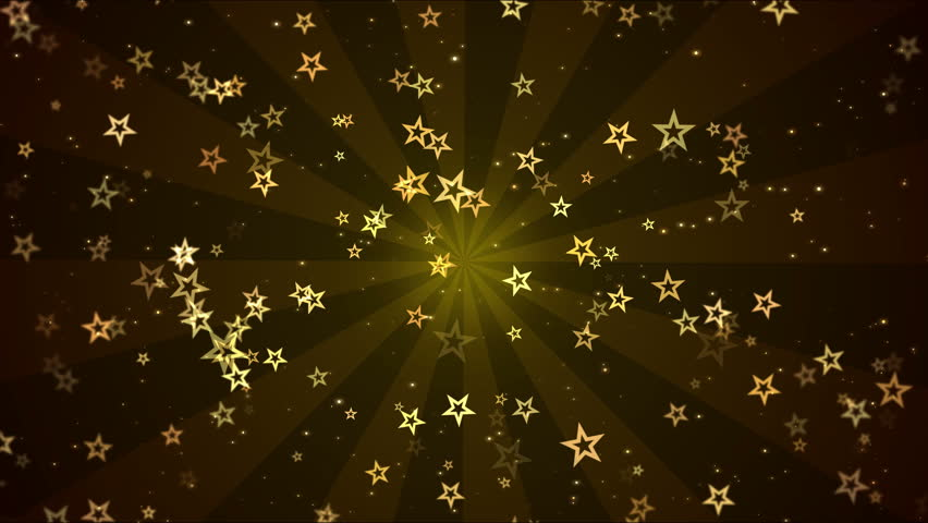 Colorful Animated Star Shapes - Loop Golden | Shutterstock HD Video #27813274