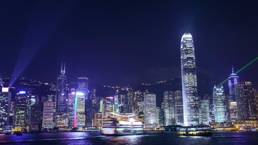 Night scene of hongkong | Shutterstock HD Video #2785066